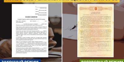 Правовые режимы имущества супругов