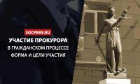 Прокурор в гражданском процессе – формы и цели участия