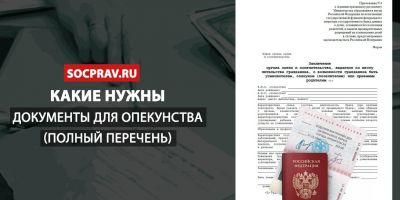 Какие нужны документы для оформления опекунства?