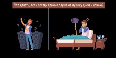 Что делать и как бороться, если соседи громко слушают музыку днем и ночью?
