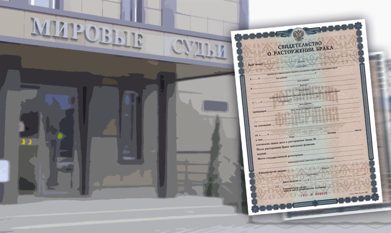 Расторжение брака в мировом суде