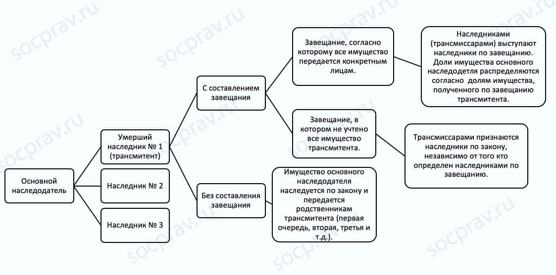 Схема наследственной трансмиссии