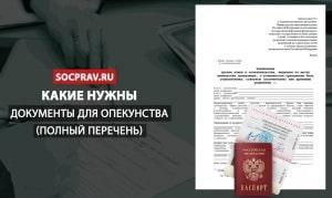 Какие нужны документы для опекунства