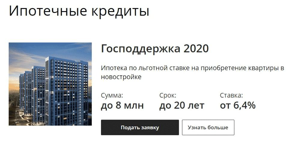 Программа –Господдержка 2020