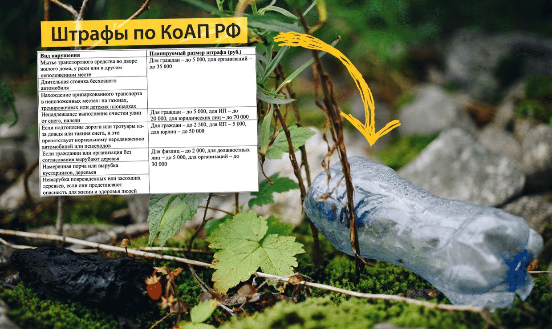 В России могут начать штрафовать за мусор, сосульки и брошенные автомобили по КоАП РФ