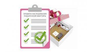Правила и особенности наследования подаренной квартиры