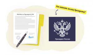 Как написать жалобу Президенту РФ
