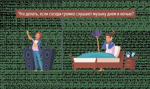Соседи громко слушают музыку днем и ночью